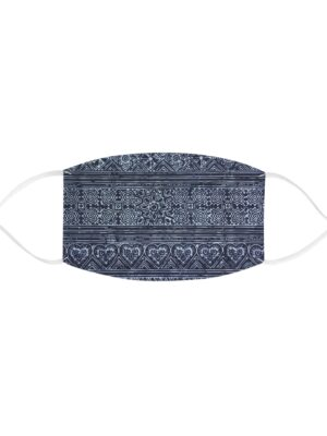 Hmong Batik Indigo Fabric Face Mask